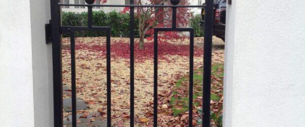 Automatic gates railing & ped gate -1