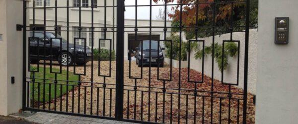 Automatic gates railing & ped gate -2