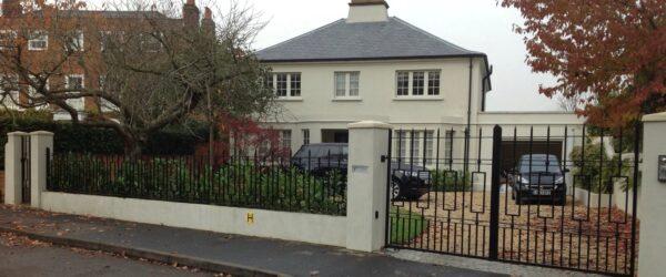 Automatic gates railing & ped gate -3