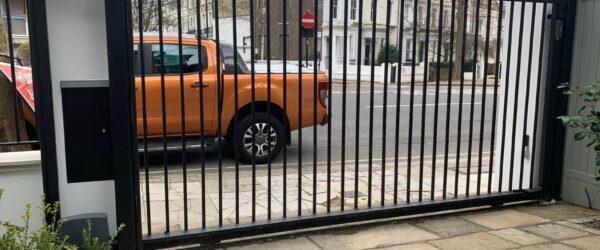 Automatic sliding gate railings and custom mail box-1