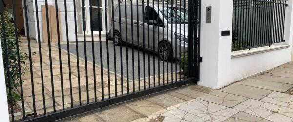 Automatic sliding gate railings and custom mail box-4