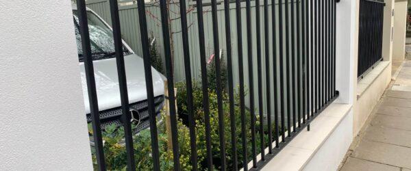 Automatic sliding gate railings and custom mail box-6