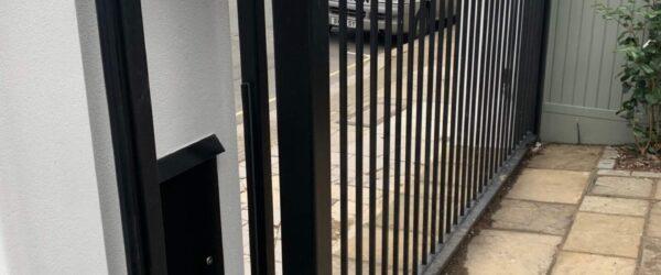 Automatic sliding gate railings and custom mail box-8