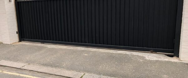 Large steel electric sliding gate