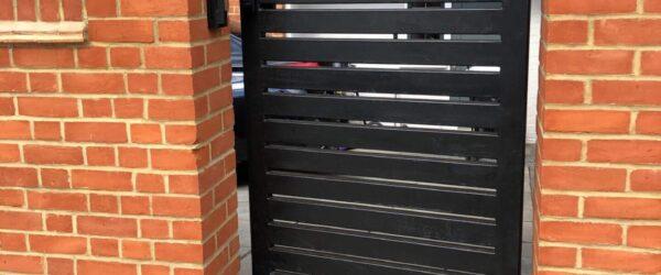 Teliscopic electric sliding gate railing single gate & entryphone-03