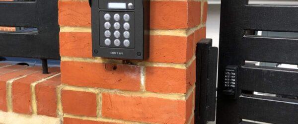 Teliscopic electric sliding gate railing single gate & entryphone-05
