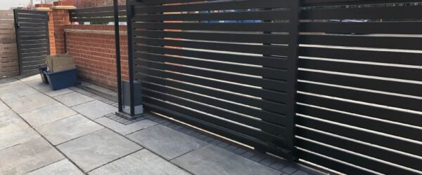 Teliscopic electric sliding gate railing single gate & entryphone-08